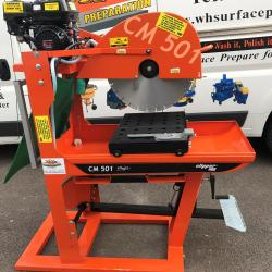 HIRE 500MM PETROL MASONARY SAW BENCH CUTS 195MM CLIPPER CM501