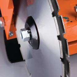 HIRE 350MM FLOOR SAW ELECTRIC TWIN BLADE FITTED CUTS 20MM WIDE 140MM DEEP