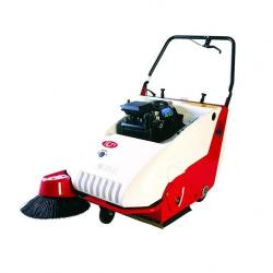 C46 HIRE PEDESTRIAN SWEEPER 600MM PETROL WALK BEHIND